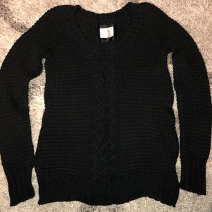 Solid black Old Navy knit sweater